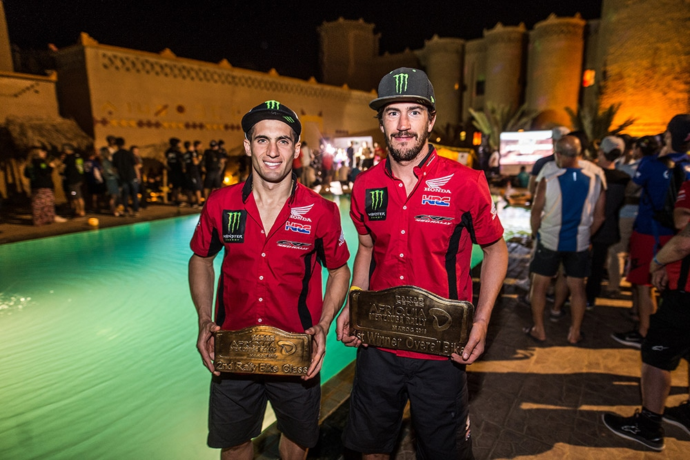 Команда Monster Energy Honda выиграла ралли Мерзуга 2018