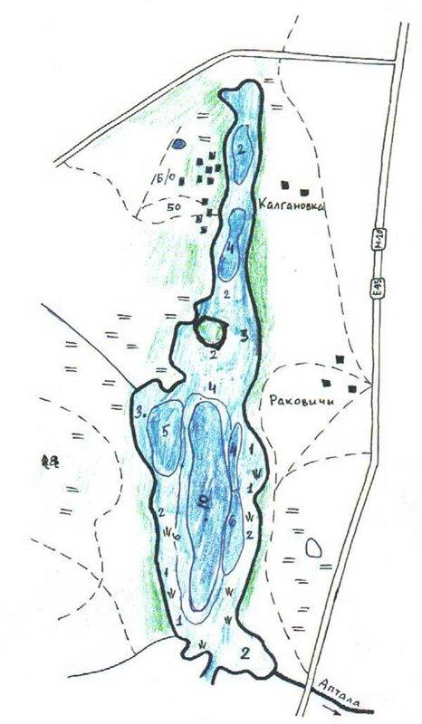 Глубины озера Раковическое