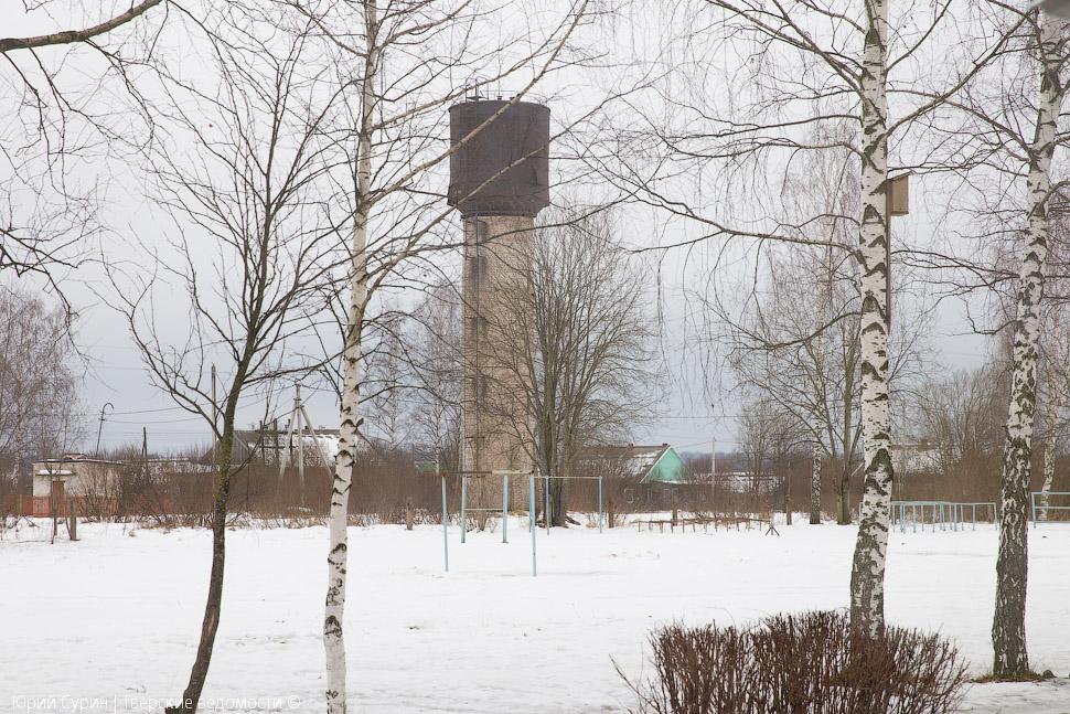 Водонапорная башня в Глебово