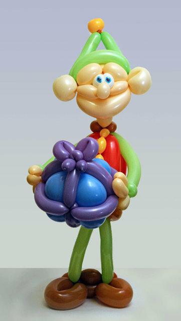 Невероятное искусство Роба Дрисколла: Что можно сделать из воздушных шариков (20 фото + видео)