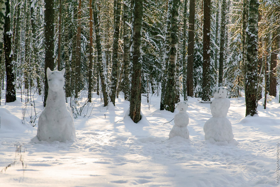 животные снеговики