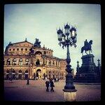 Опера Земпера в старом городе Дрездена