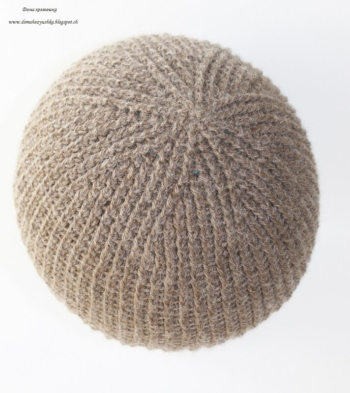 вязания мужской шапки