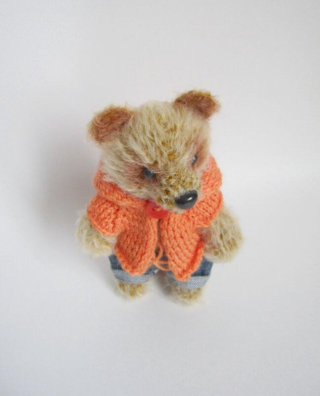 Мишка тедди, вязаный мишка, мишка крючком, игрушка вязаная,