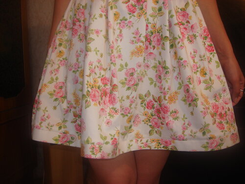 Пришить юбку солнце к лифу