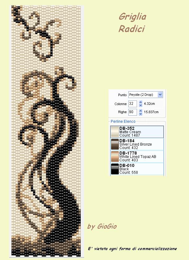 Плетение бисером широких браслетов схемы