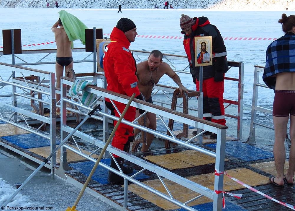 Крещенская купель на Долгом озере