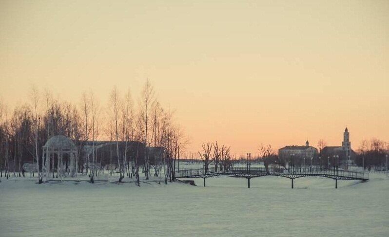 остров Влюбленных зимой