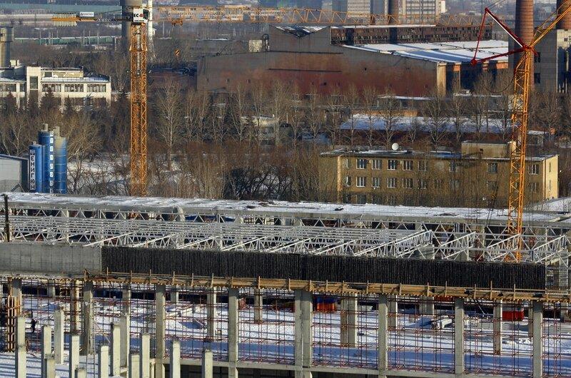 Строительство ТРК, январь 2014