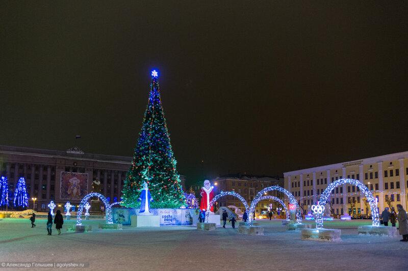 Новогодняя Театральная площадь