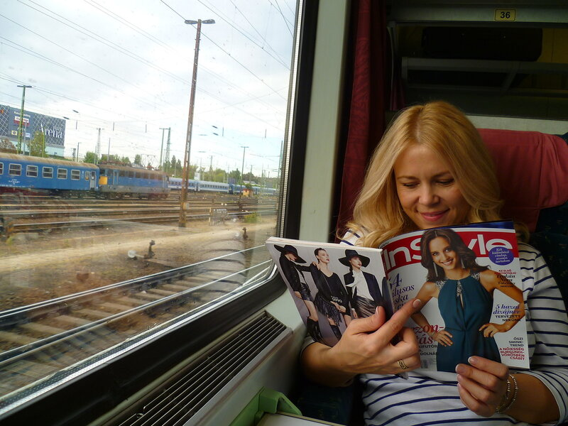 В поезде от Будапешта до Братиславы.