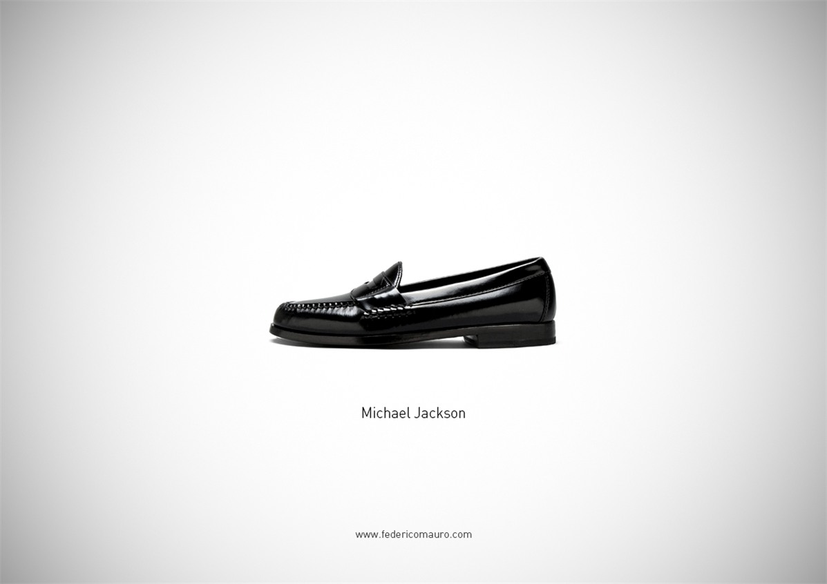 Знаменитая обувь культовых персонажей / Famous Shoes by Federico Mauro - Michael Jackson
