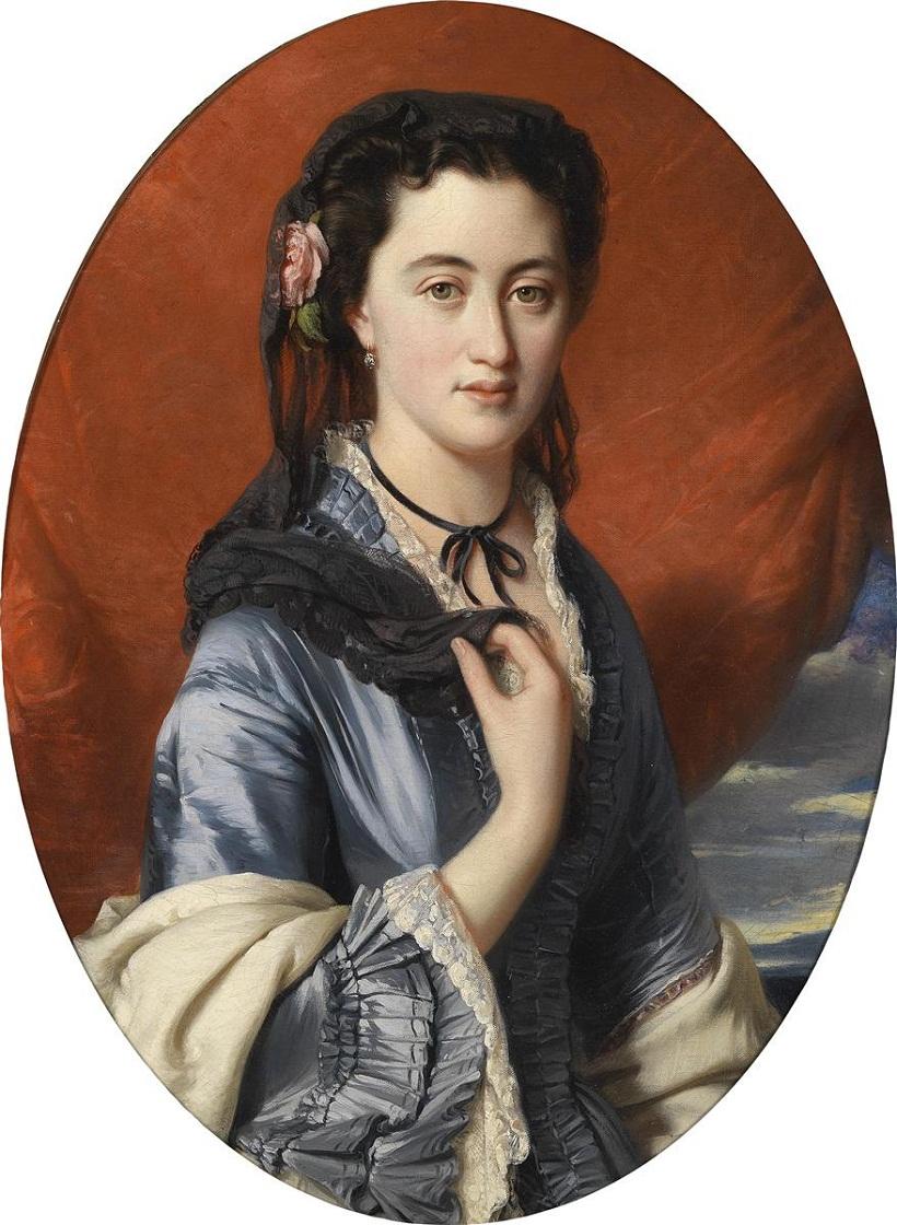 1864 Countess Natalia Alexandrovna of Merenberg, née Pushkina by Franz Xaver Winterhalter (dorotheum)