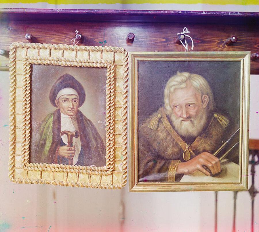 Портрет инокини Марфы, матери Царя Михаила Феодоровича и портрет Сердюкова в Тверском музее. Лето 1910 года