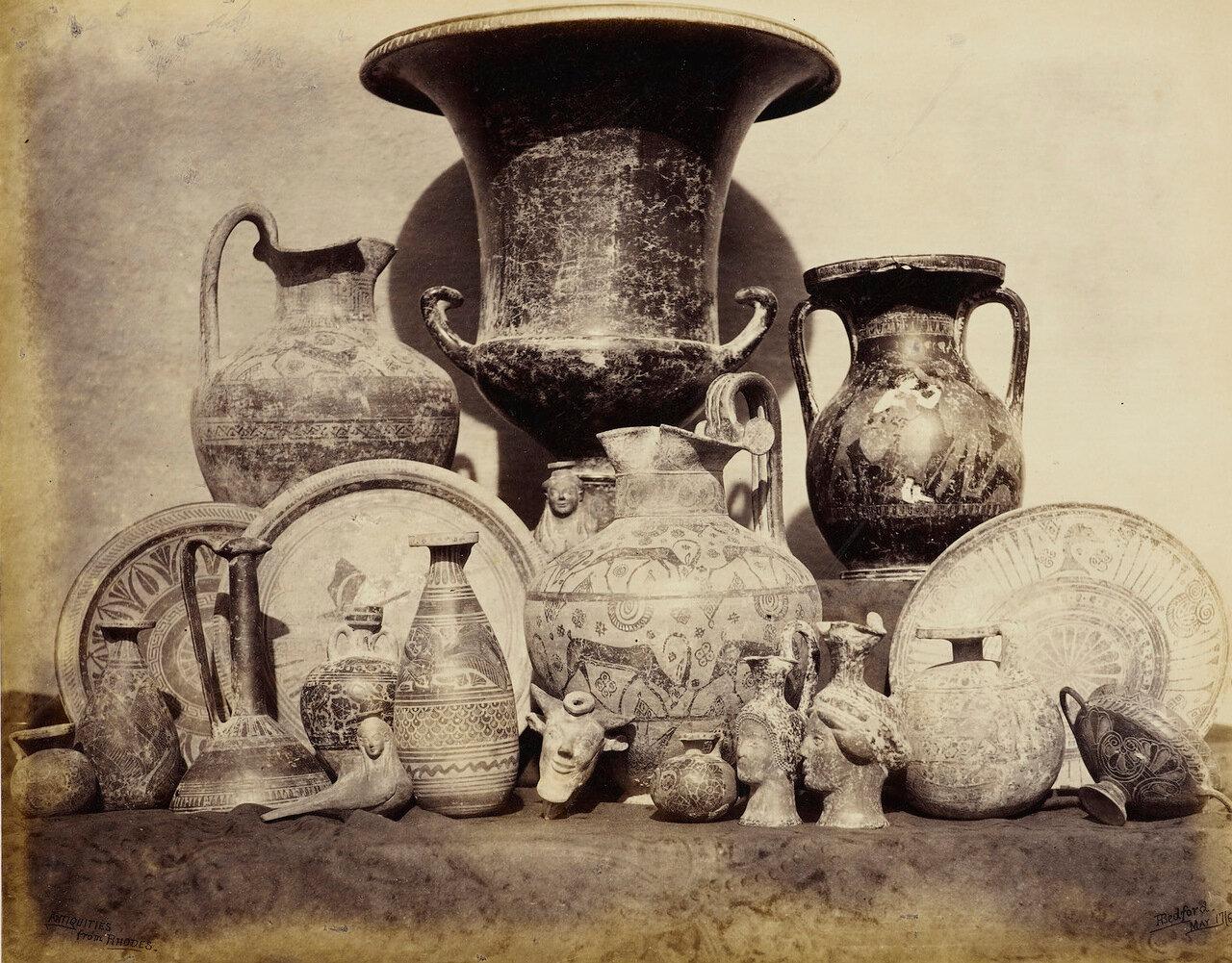 17 мая 1862. Древности с Родоса, приобретеные принцем Уэльским