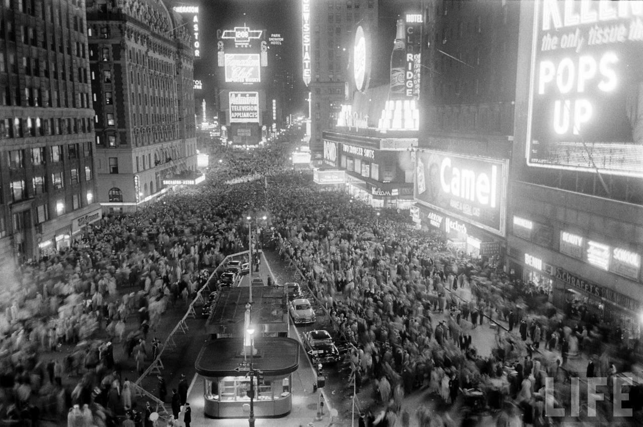 1956. Новый год на Таймс-сквер