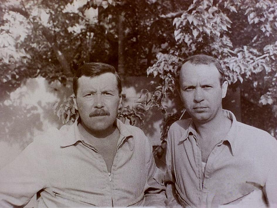 1981-1982. Сирия. А.Колесников-слева