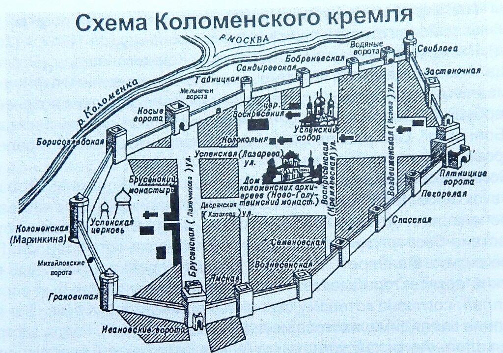 Коломенского кремля писцы