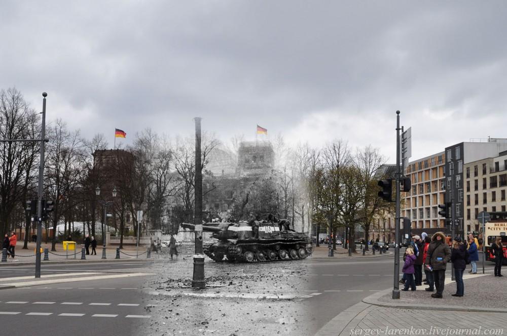 8 Берлин 1945-2010. ИСУ-152 у Бранденбургских ворот..jpg