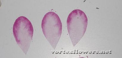 Как красить лепестки цветка