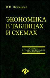 Книга Экономика в таблицах и схемах, Любецкий В.В., 2006