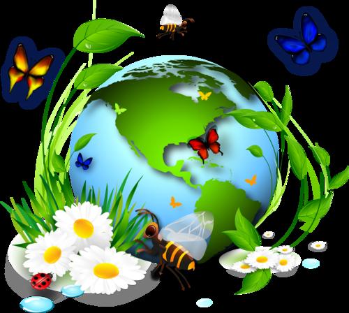 Земной шар с насекомыми