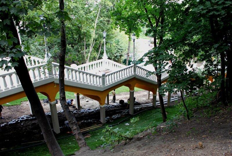 Новая лестница к колонне Магдебургского права