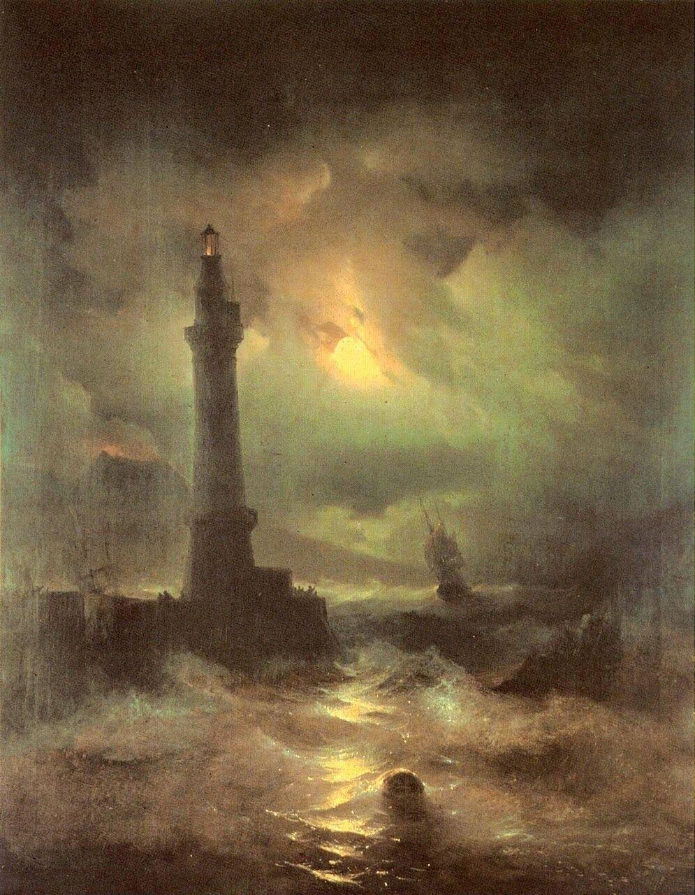 Неаполитанский маяк. Айвазовский, картины русских художников