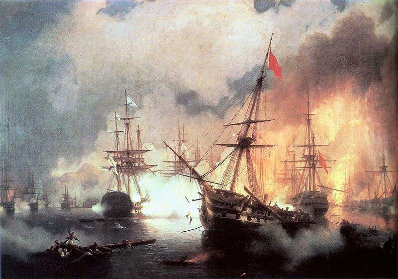 Морское сражение при Наварине (2 октября 1827), Айвазовский Иван Константинович, живопись
