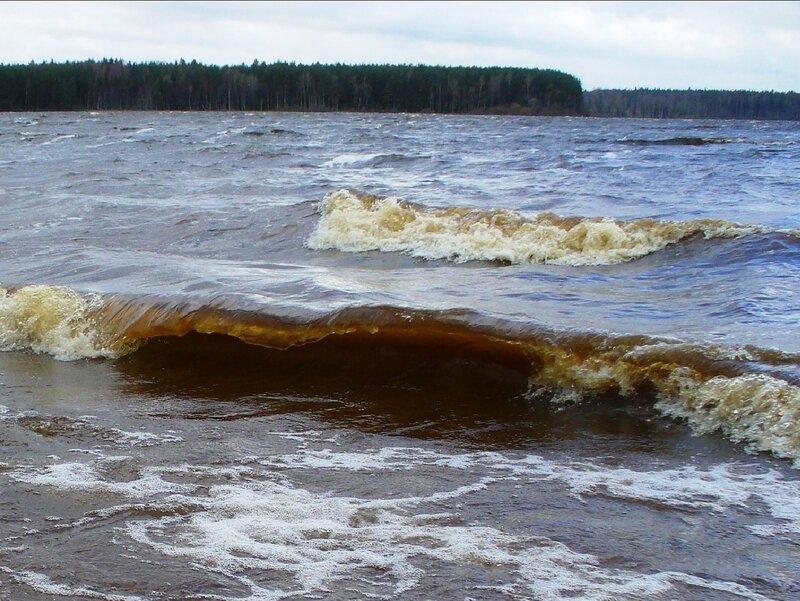 Штормит озеро Волго