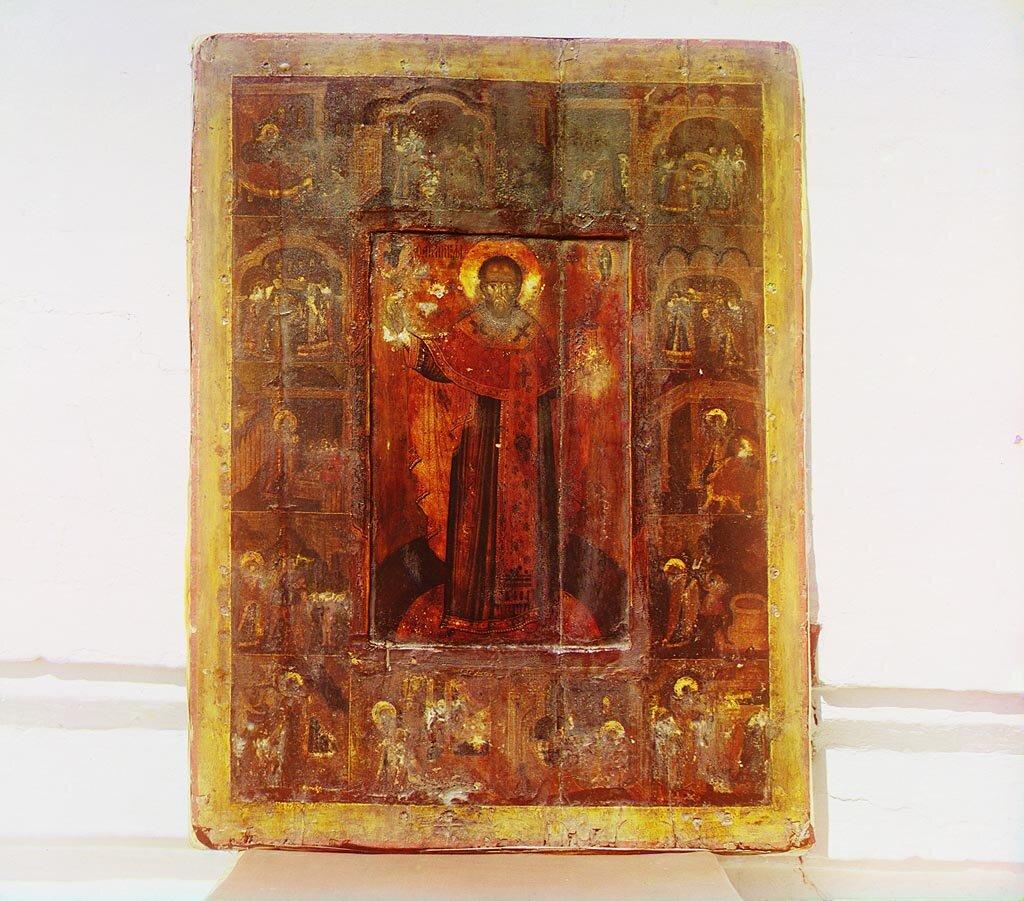 Икона св. Николая Чудотворца, писанная одновременно с Чудотворной. Не ранее 1912.