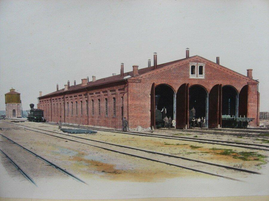 11. Паровозное здание на станции Береза