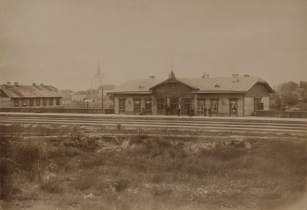 Венден. Железнодорожная станция
