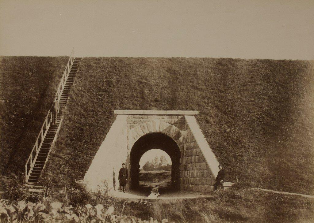 Валк. Железнодорожная водопропускная труба возле станции