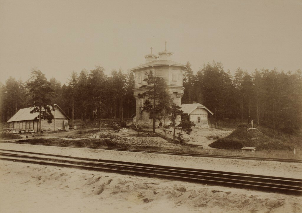Верро. Водонапорная башня на вокзале