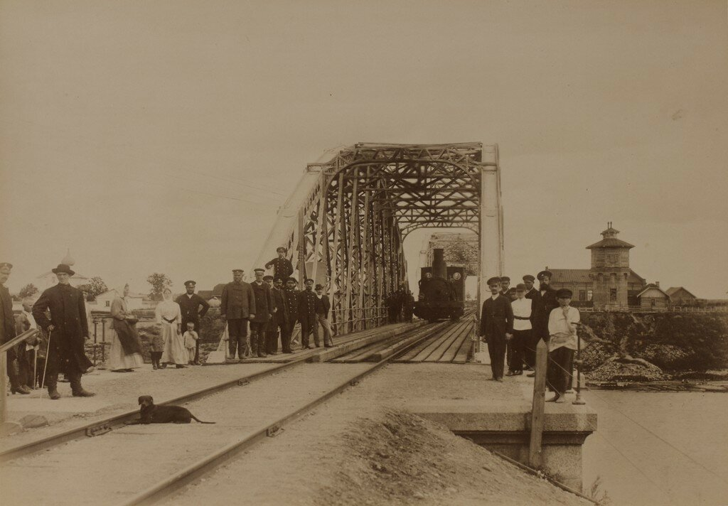 Рига. Железнодорожный мост через Великую (Рижский мост) после окончания строительства