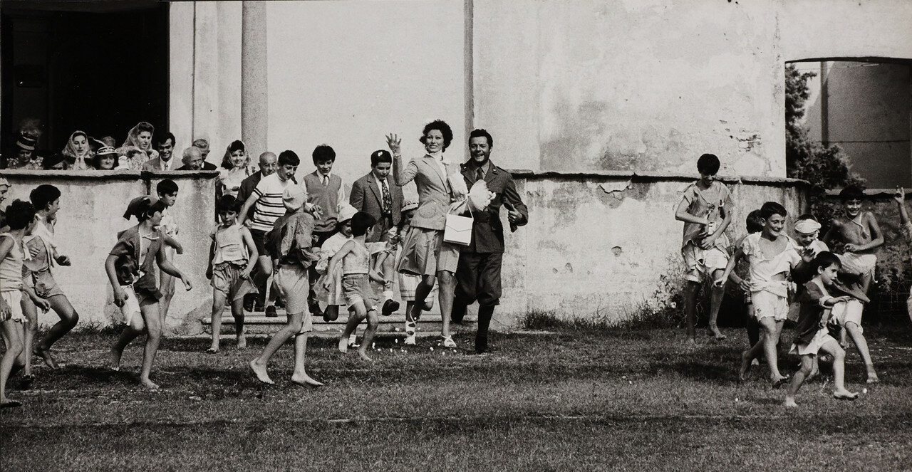 1970. Софи Лорен и Марчелло Мастроянни на съемках фильма  «Подсолнухи»