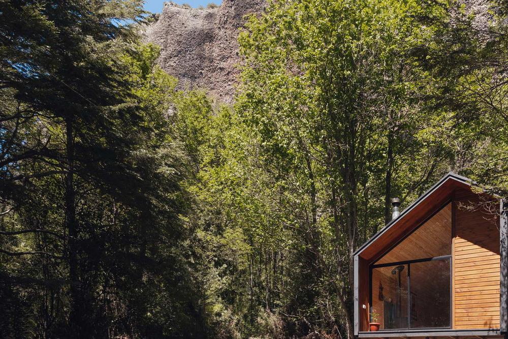 Небольшой домик в чилийском лесу