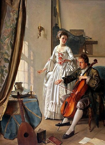 Frans Xaver Wolf - The Cello Player