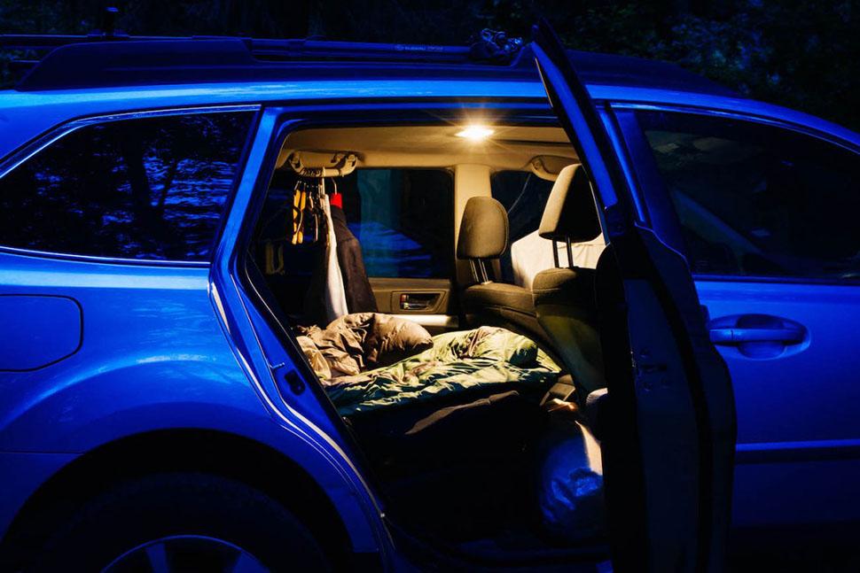 быт душ кемпинг машины работа Сиэтл стажер студенты США удобство фургон