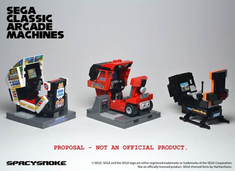 SEGA classic arcade machines as LEGO