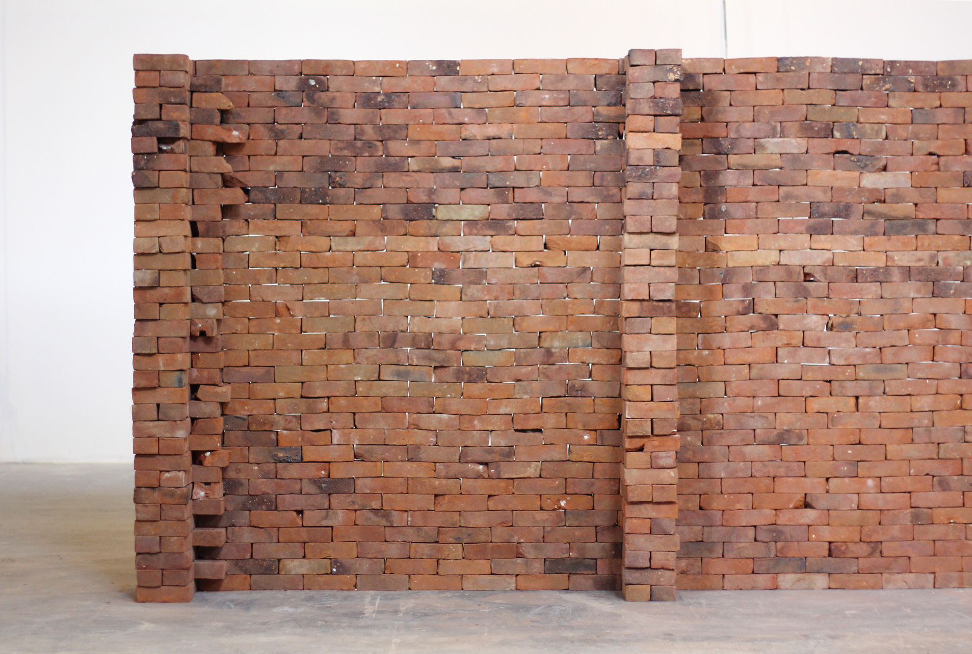A Single Book Disrupts the Foundation of a Brick Wall by Jorge Mendez Blake