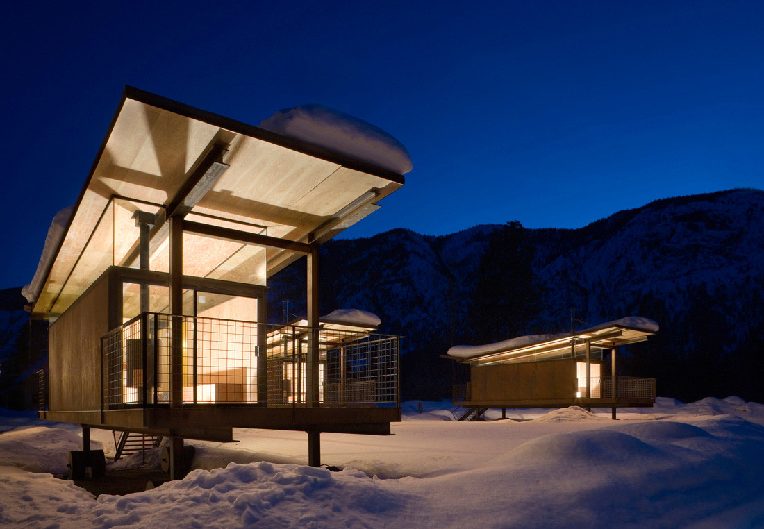 The Rolling Huts of Methow Valley, Washington