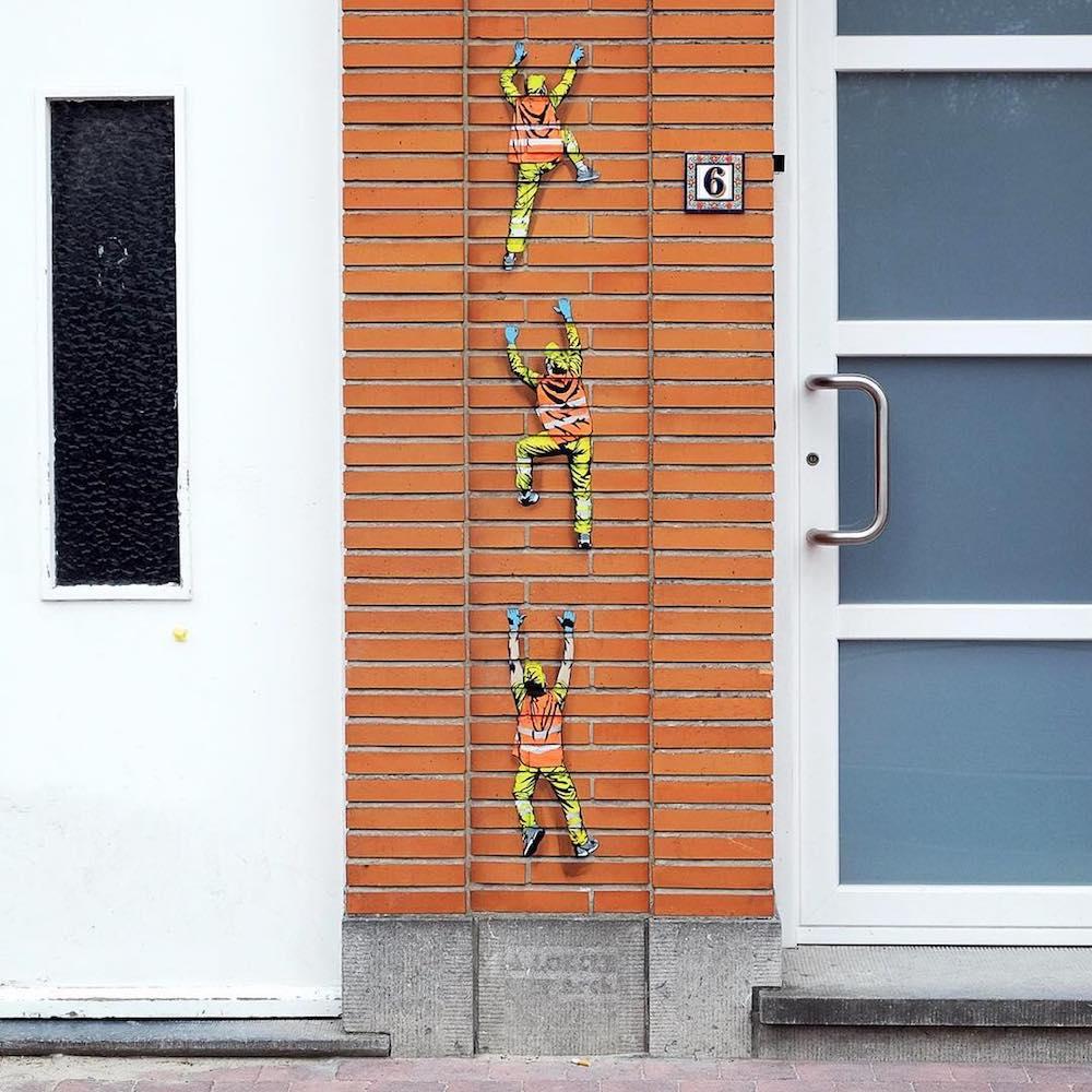 Amusing Street Worker Paintings Around Brussels (11 pics)