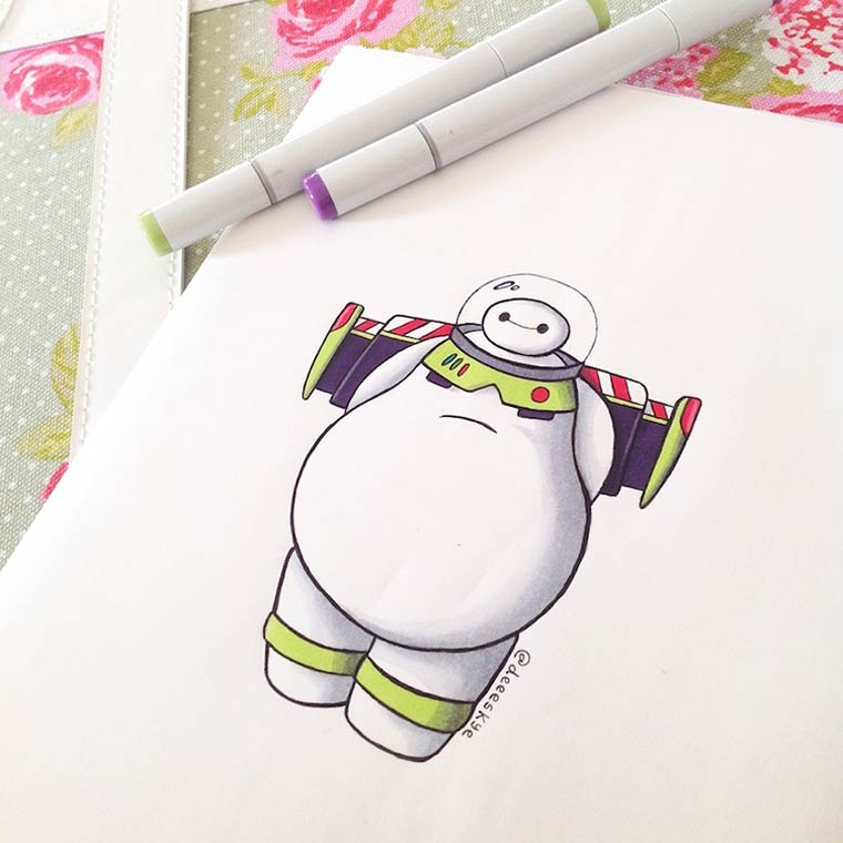When Baymax meets the other famous characters from Disney (22 pics)