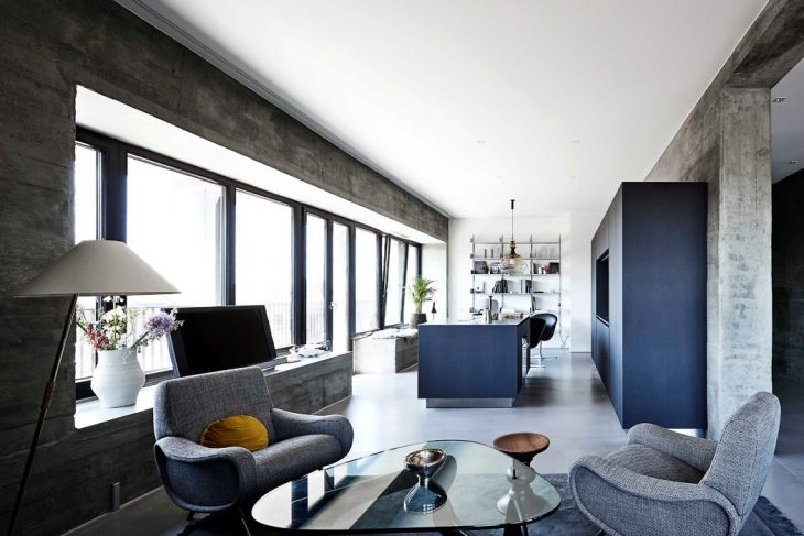 Bunker Apartment in Hamburg by Thomas Schacht