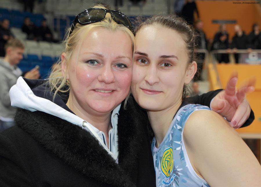 Тренер Инна Реут и Полина Фатулаева