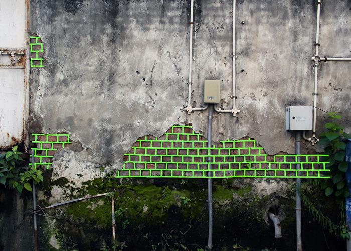 Geometric Street Art - Aakash Nihalani