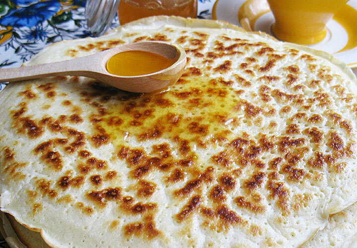 Рецепт блинов толстых на кефире с пошагово в