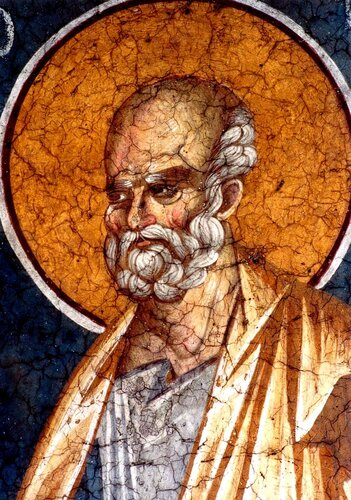 Святой Пророк Иона. Фреска монастыря Грачаница, Косово, Сербия. Около 1320 года.